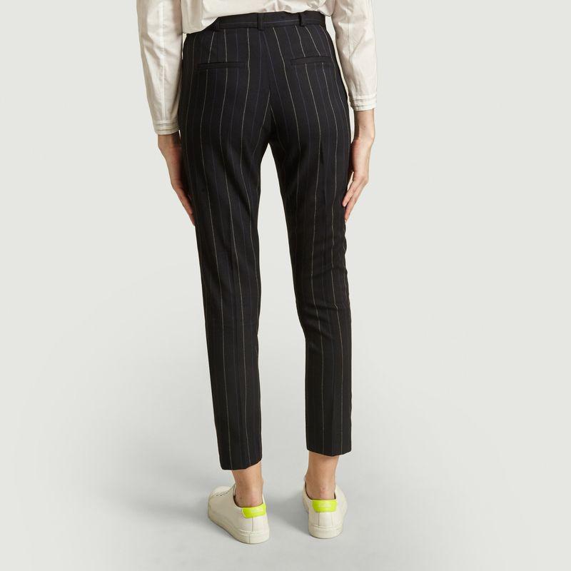 Pantalon de tailleur à rayures tennis George - Admise Paris