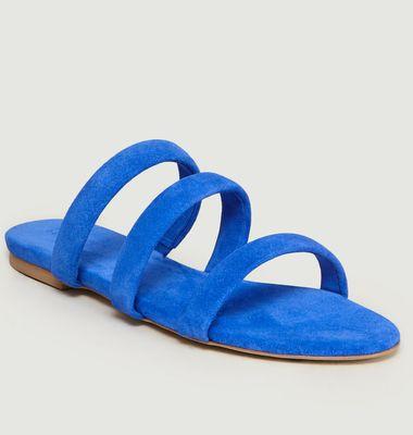 Sandales En Cuir Suédé Chrissy