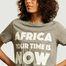 matière T-shirt à lettrage imprimé AYTIN - Africa your time is now
