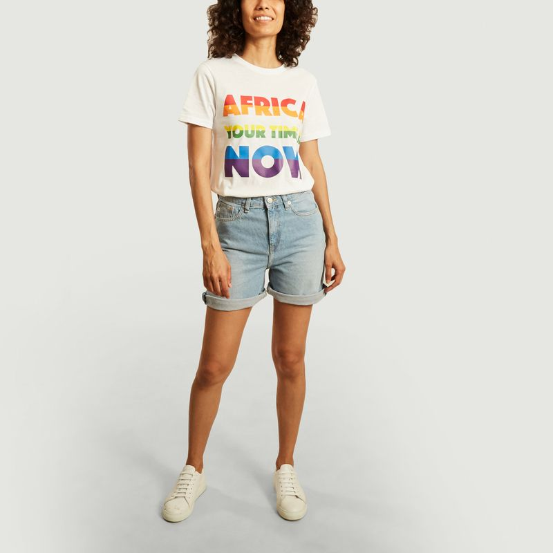 T-shirt à lettrage imprimé AYTIN Pride - Africa your time is now