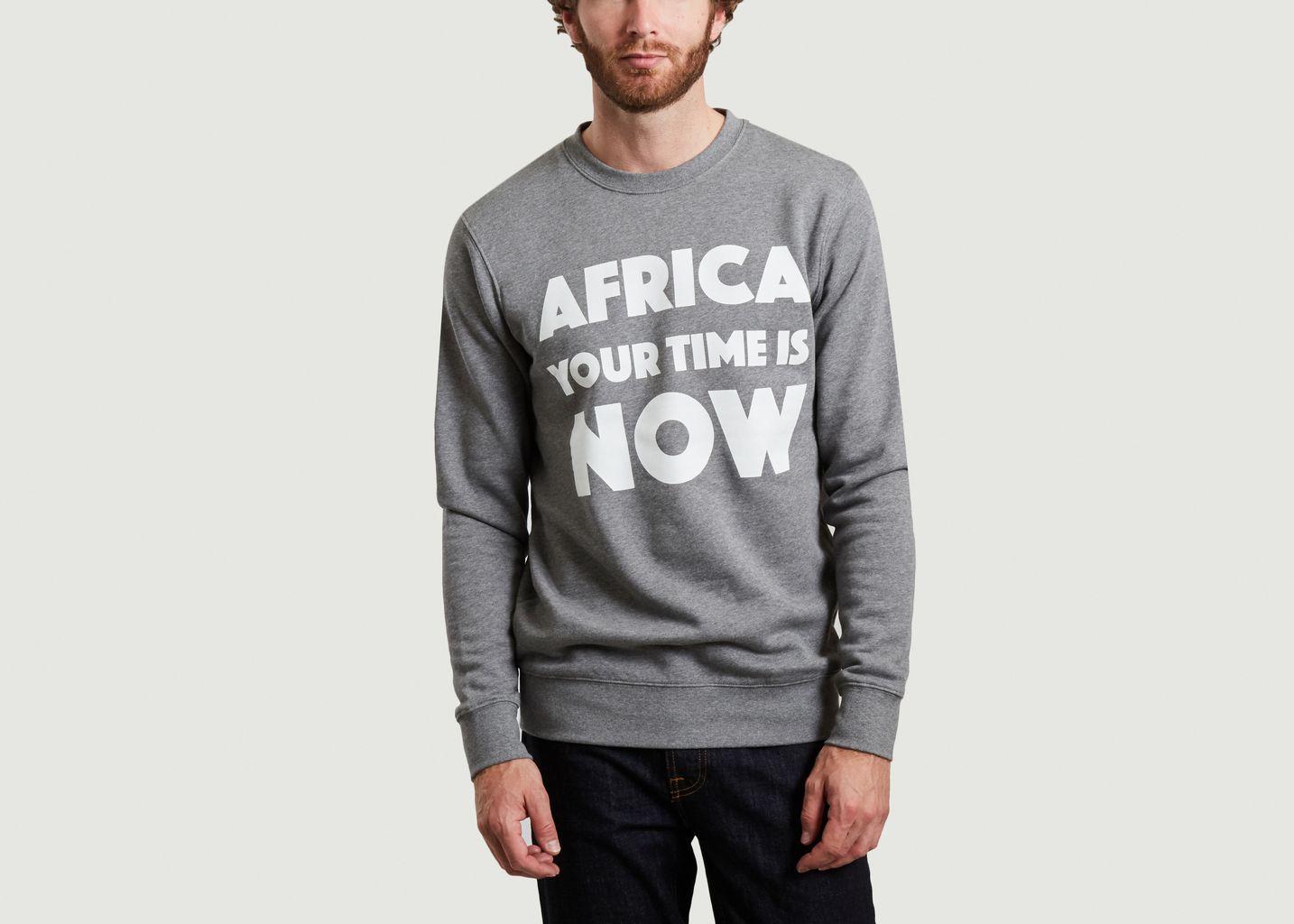 Sweatshirt à lettrage imprimé AYTIN - Africa your time is now
