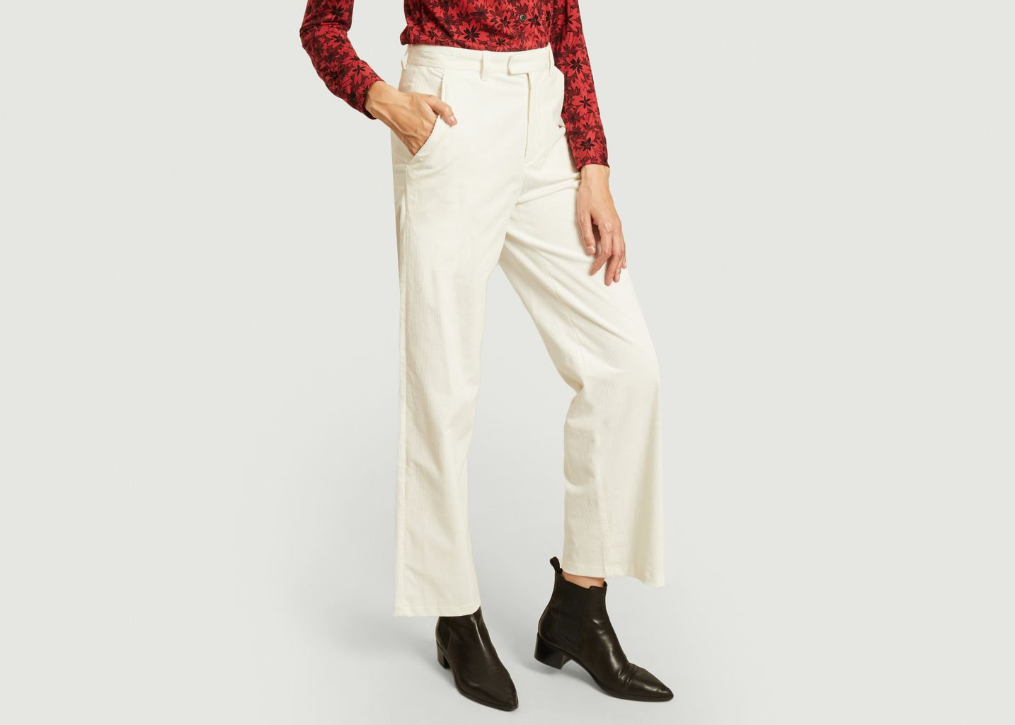 Pantalon Boy en velours côtelé - agnès b.