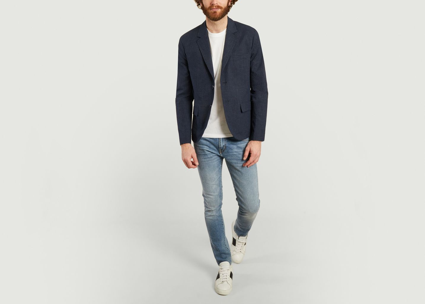 Checked suit jacket - agnès b.