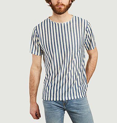 T-shirt rayé en lin