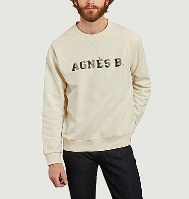 Sweatshirt siglé en coton bio