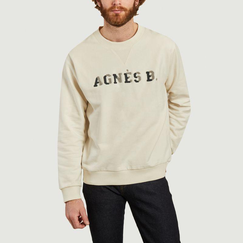 Sweatshirt siglé en coton bio - agnès b.
