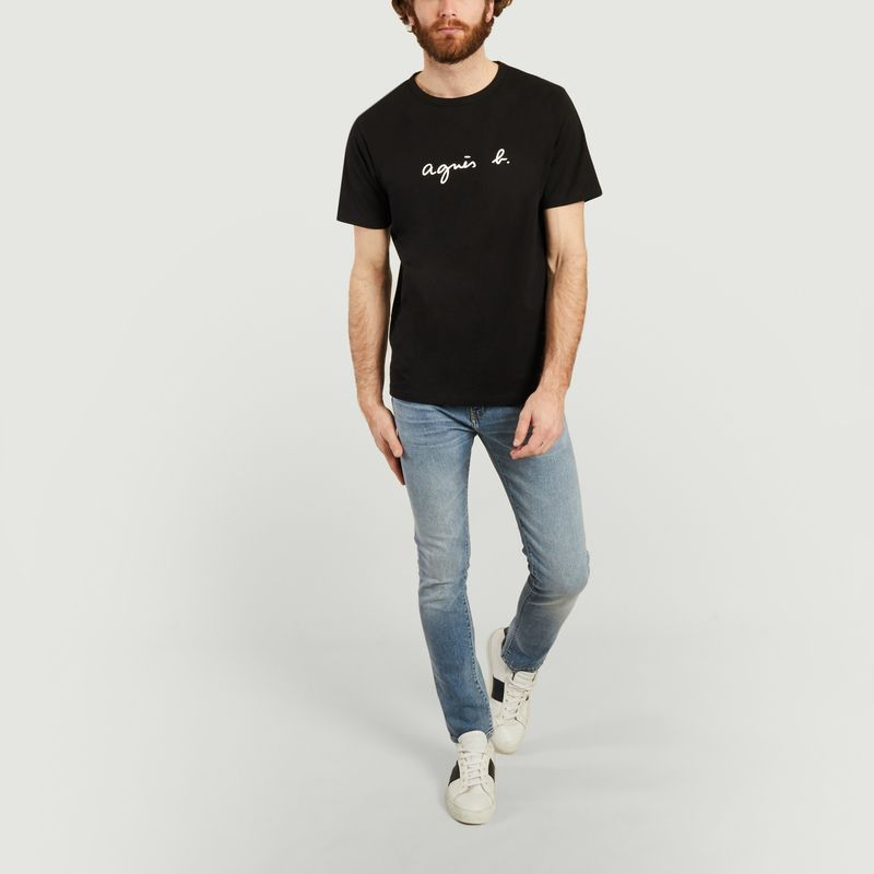 T-shirt logotypé en coton - agnès b.