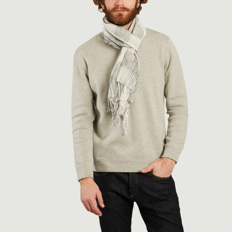 Foulard à carreaux en coton Hans - agnès b.