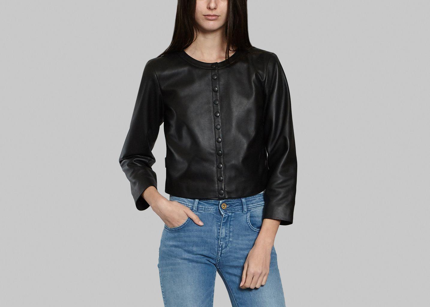 Agnes b veste cuir