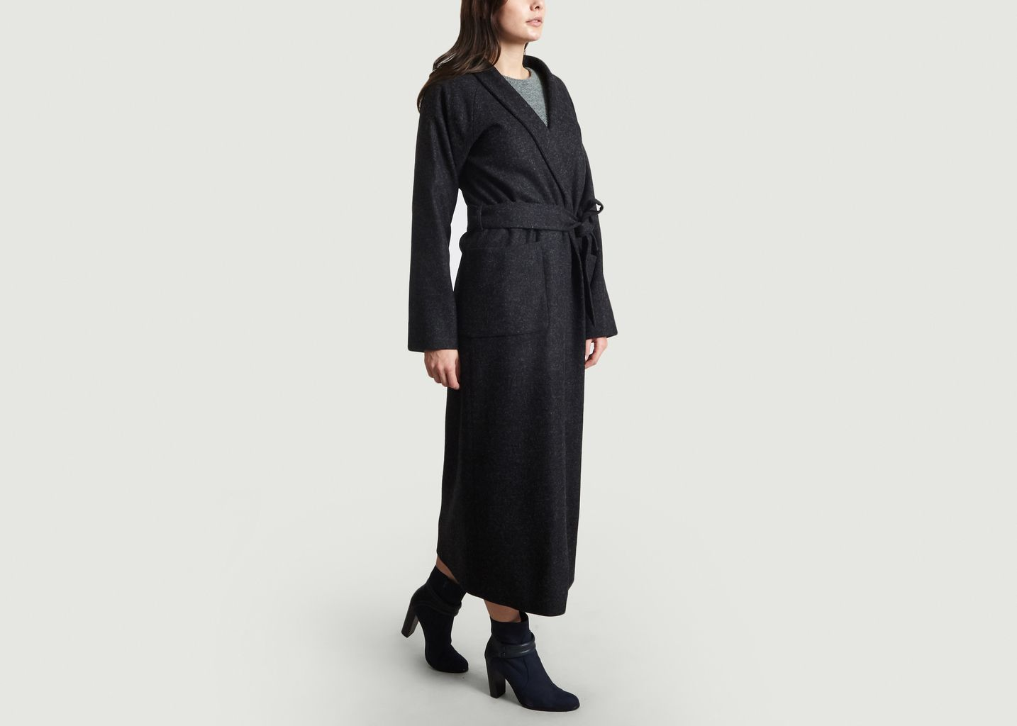 22930cd26ad3 Manteau Peignoir Noir agnès b.   L Exception