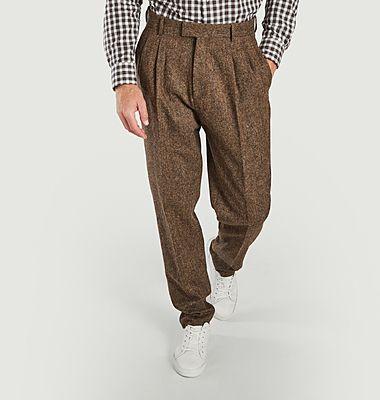 Pantalon à plis