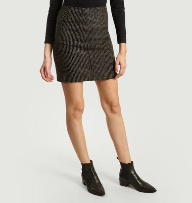Jupe Ninn Courte Tweed Bouclettes