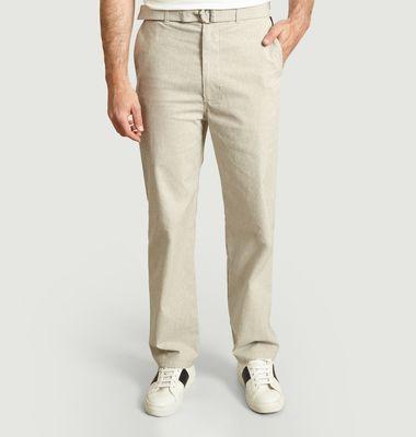 Pantalon Armand à ceinture boucle