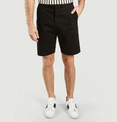 Jamming cotton bermuda shorts