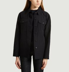 Buttonned overshirt with pockets