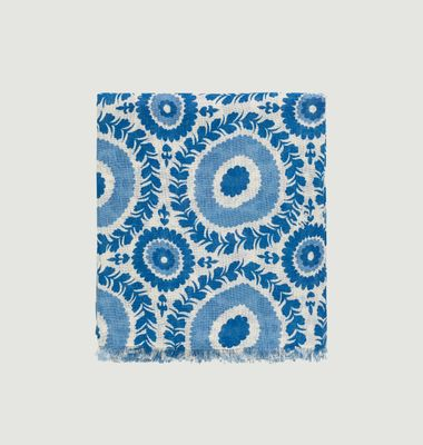 Foulard motif fleuri en coton Marlène