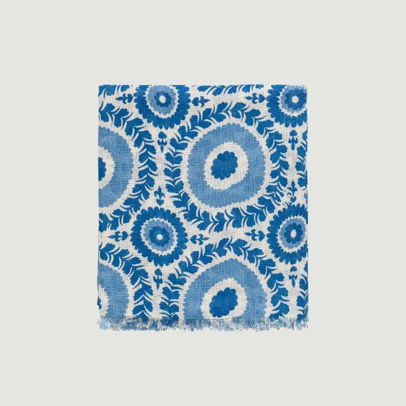 Foulard motif fleuri en coton Marlène - agnès b.
