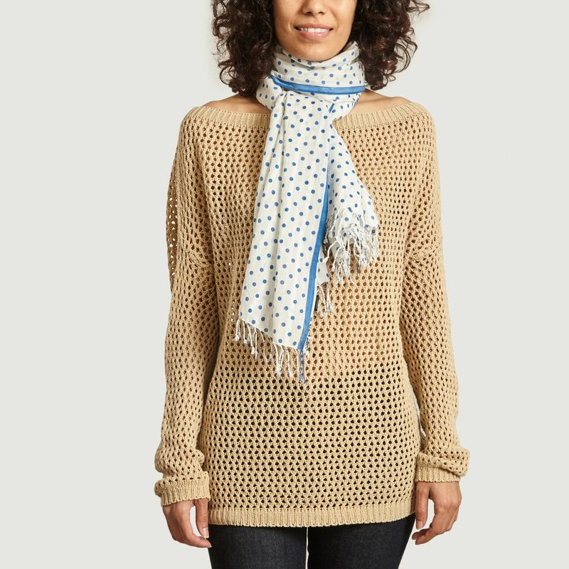 Foulard à pois en coton Mary - agnès b.