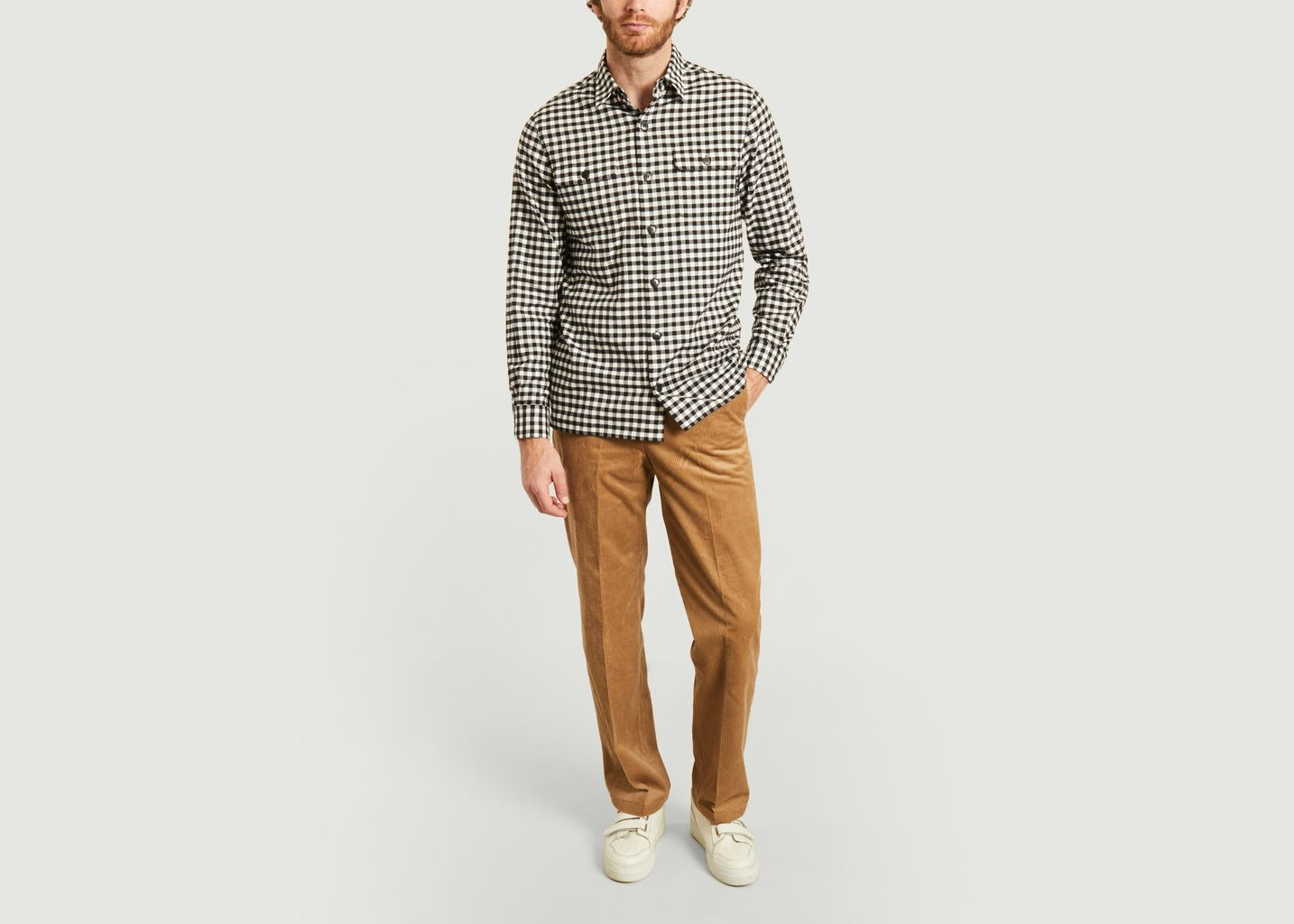 Pantalon en velours côtelé  - agnès b.