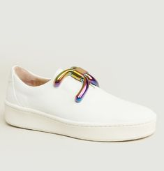Sneakers Knot Oil Slick Buckle