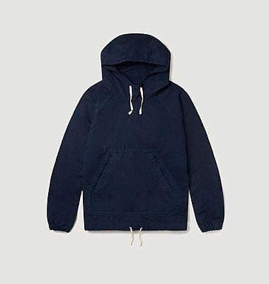 Veste hoodie boxy en lin et coton