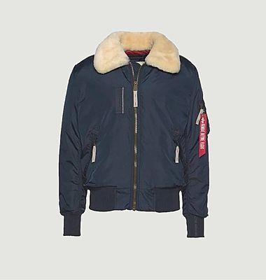 Injector III zipped jacket with fur collar