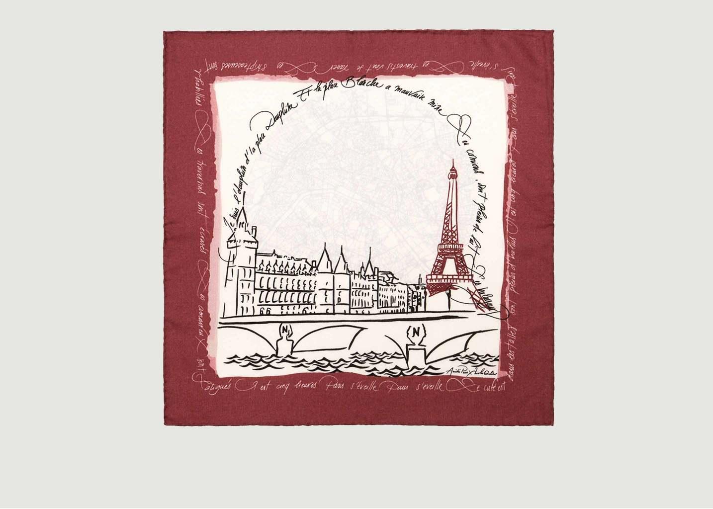 Foulard Carré Mérinos Paris Amédée x Nicolas Ouchenir - Amédée Paris