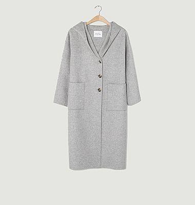 Manteau Dadoulove à capuche en laine
