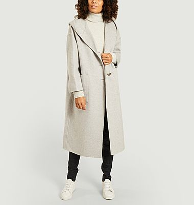 Dadoulove hooded wool coat