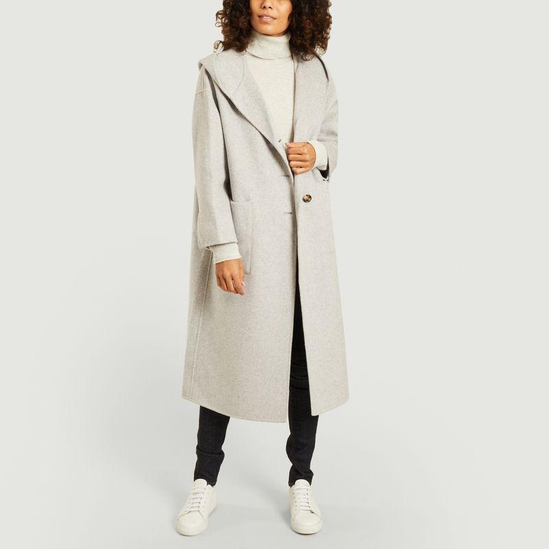 Manteau Dadoulove à capuche en laine - American Vintage