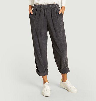 Pantalon Padow en coton côtelé