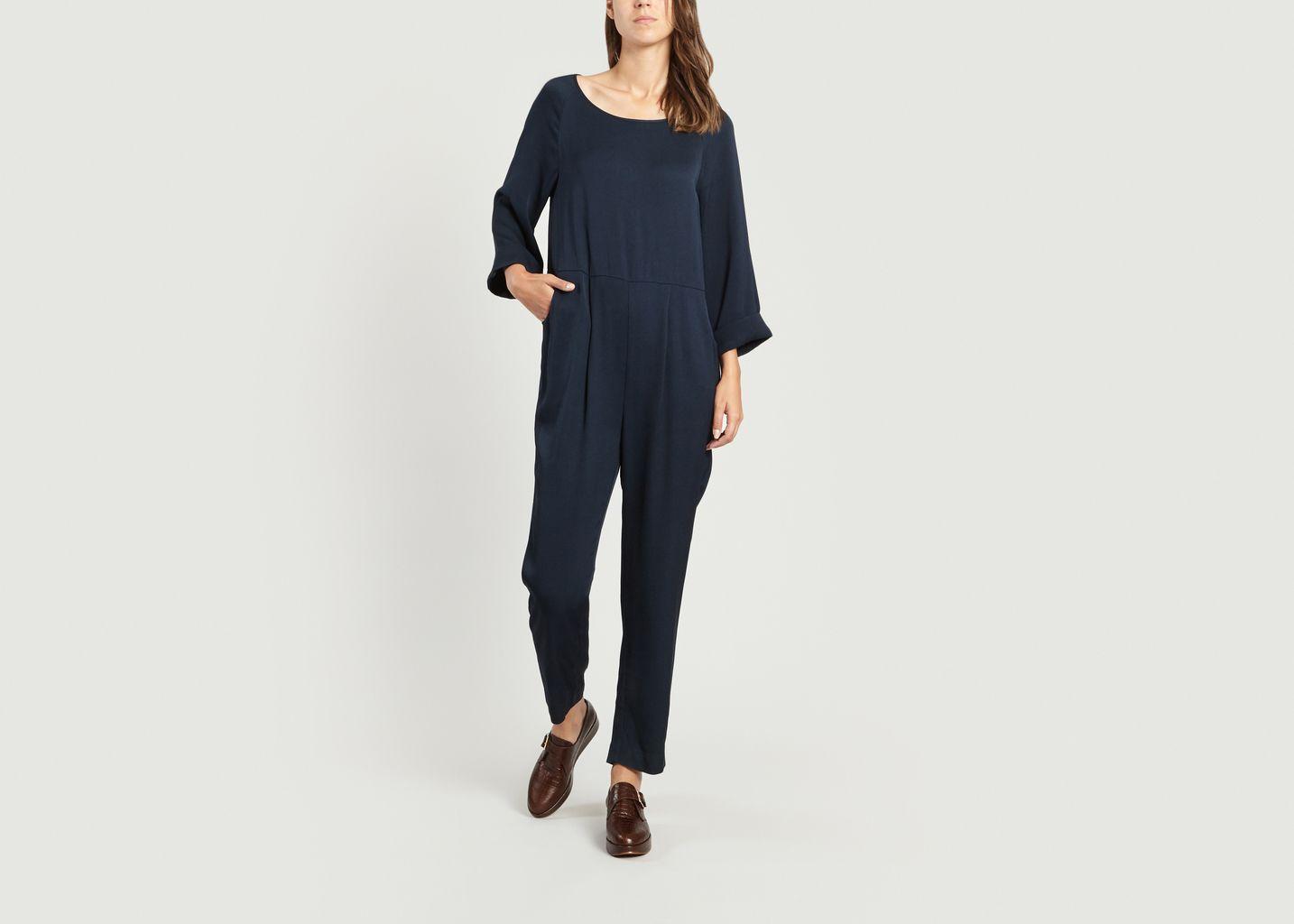 efecto gusano Interrupción  Sale Arivagigi Jumpsuit Navy Blue American Vintage at -60% | L'Exception