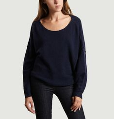 Pull Damsville Oversized Col Bateau