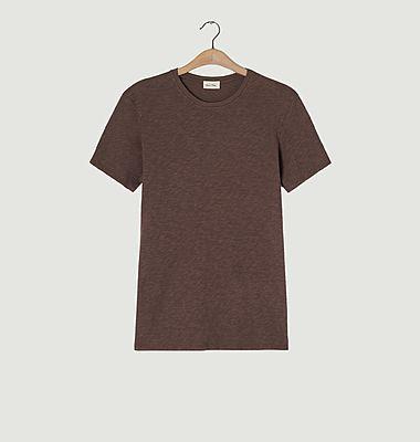 T-shirt ajusté en coton flammé Bysapick
