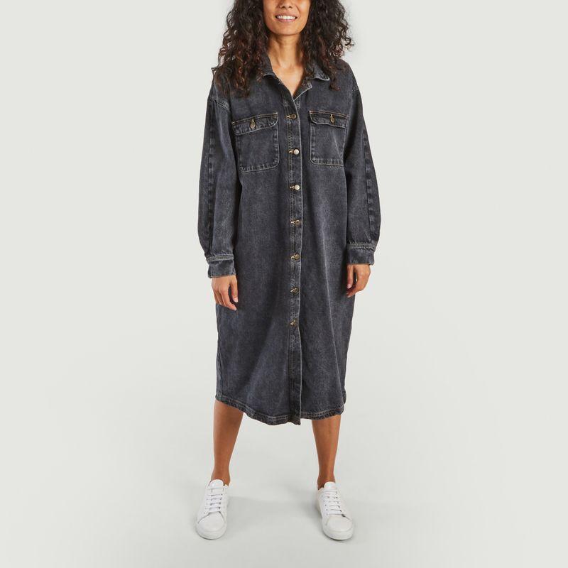 Robe-chemise boutonnée en denim Yopday - American Vintage