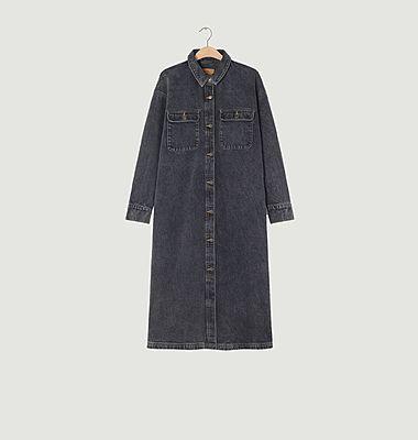 Robe-chemise boutonnée en denim Yopday
