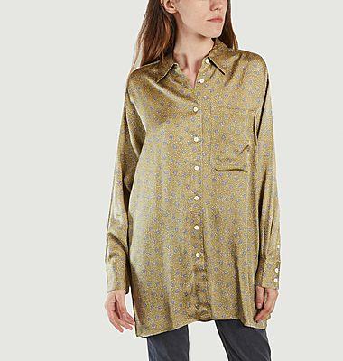 Chemise longue à motif fleuri Gintown