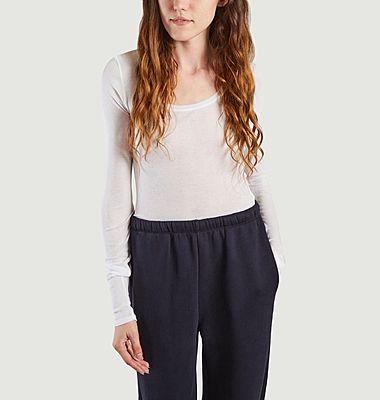 T-shirt manches longues en coton supima Massachusetts