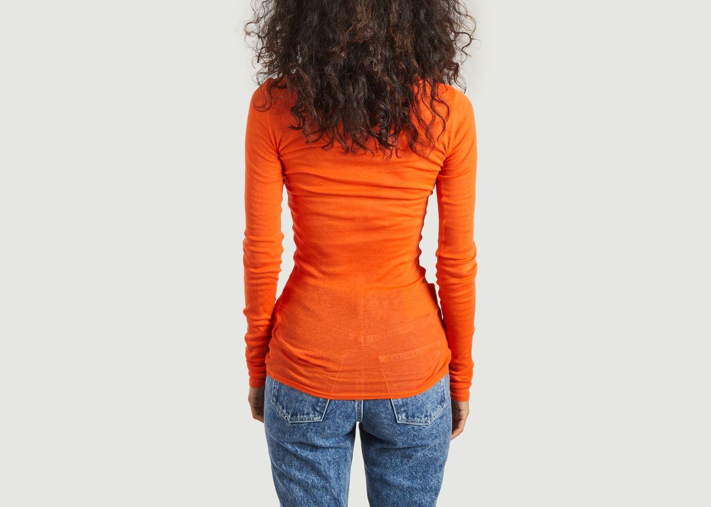 T-shirt manches longues en coton supima Massachusetts - American Vintage