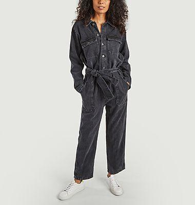 Yopday long sleeves denim jumpsuit