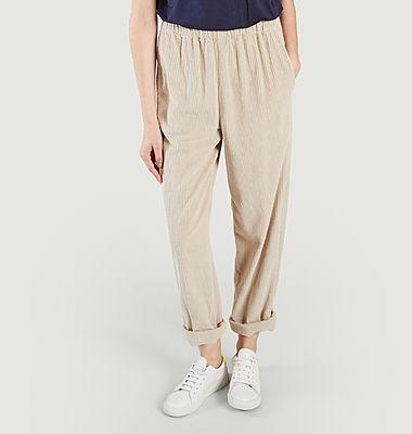 Pantalon coupe mom en velours côtelé Padow