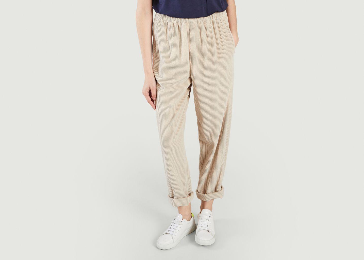 Pantalon coupe mom en velours côtelé Padow - American Vintage
