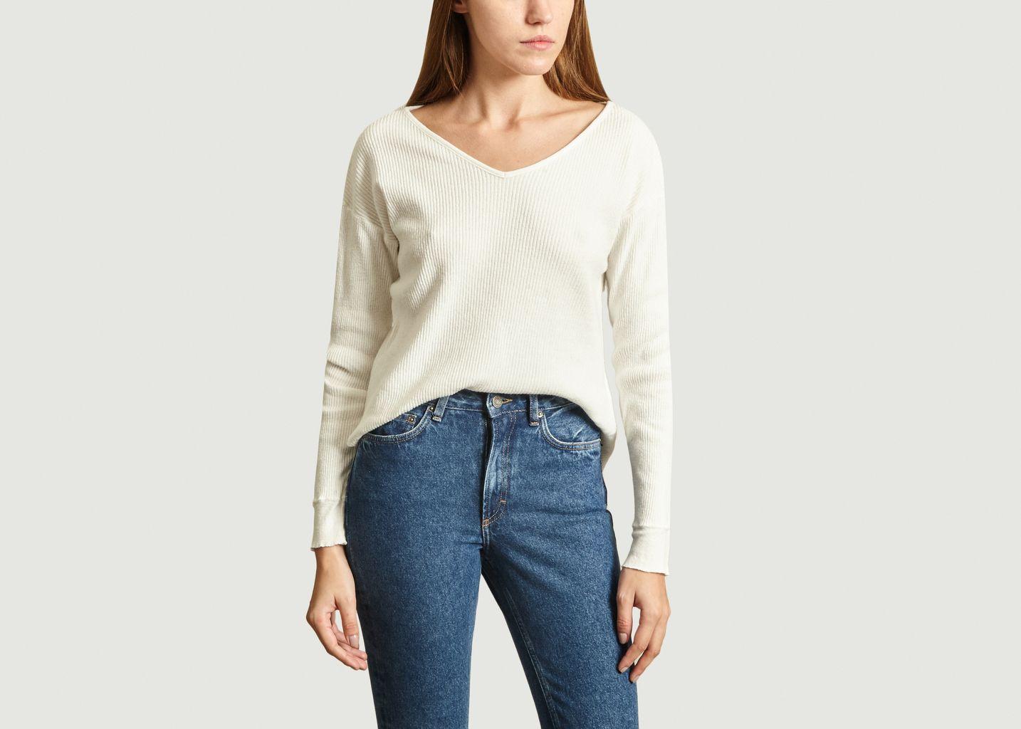 T-Shirt Côtelé Manches Longues Rigow - American Vintage