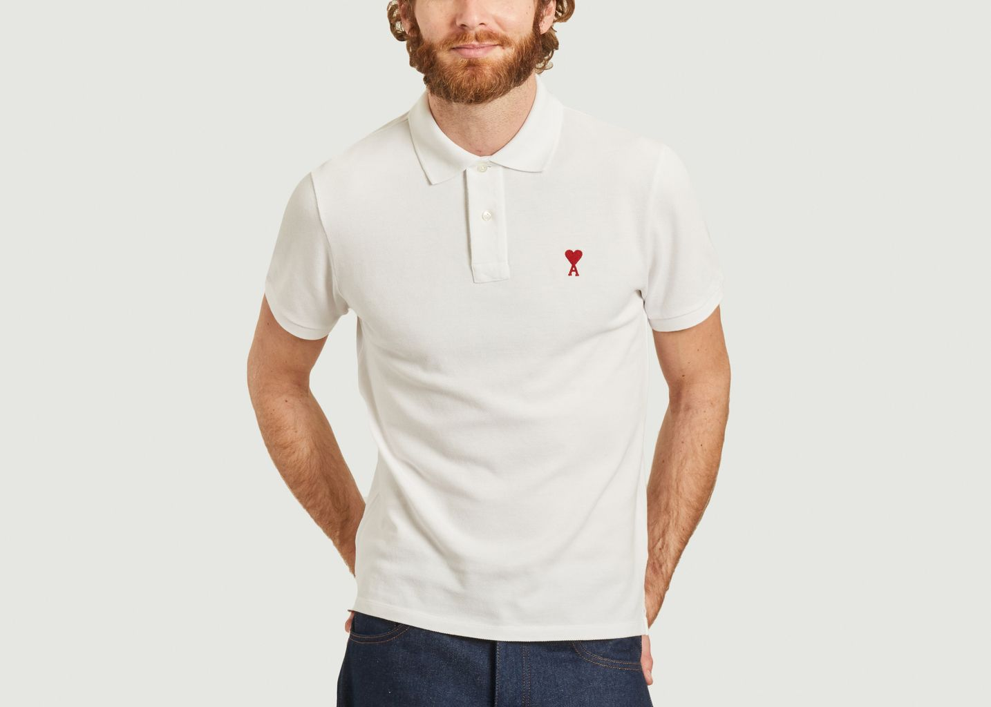 Heart Friend Polo Shirt - AMI Paris