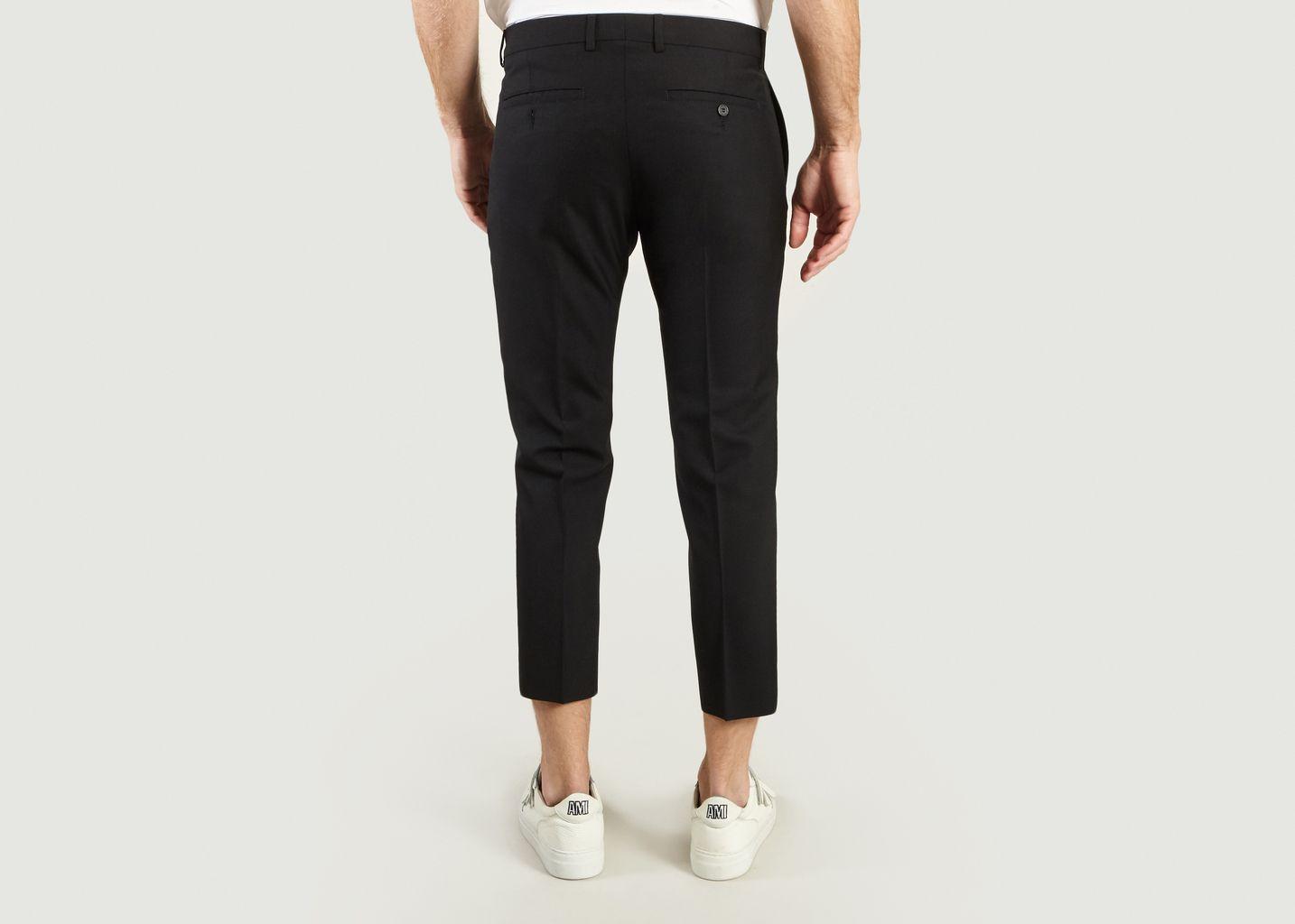 Pantalon Cropped en Laine Tropicale - AMI Alexandre Mattiussi