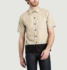 Two-Tone Short-Sleeved Shirt