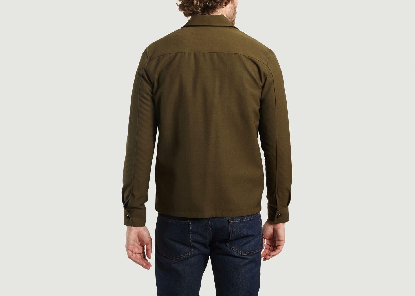 fa864e97fde Zip Overshirt Khaki AMI Alexandre Mattiussi