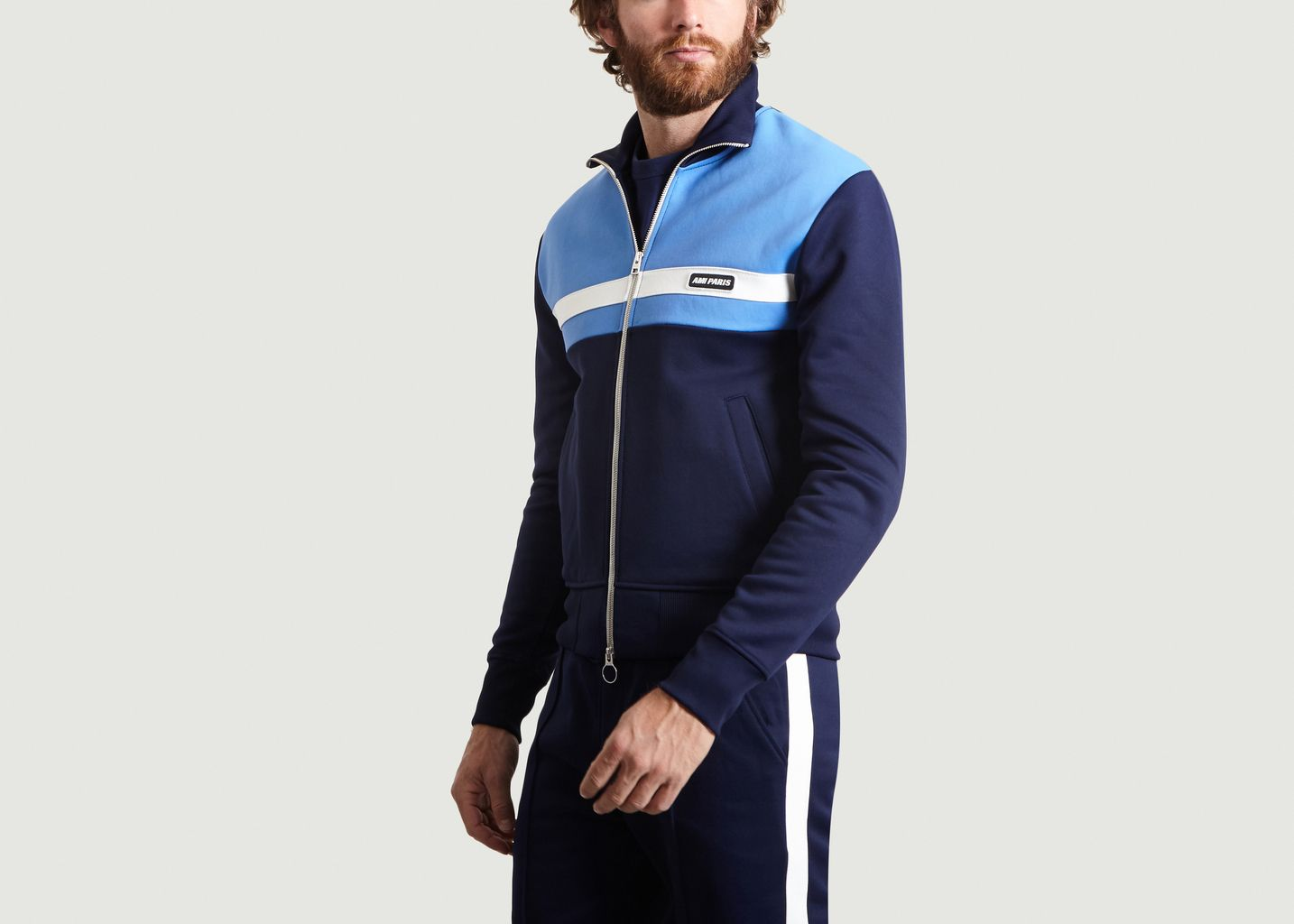 Sweatshirt Zippé Tricolore - AMI Alexandre Mattiussi
