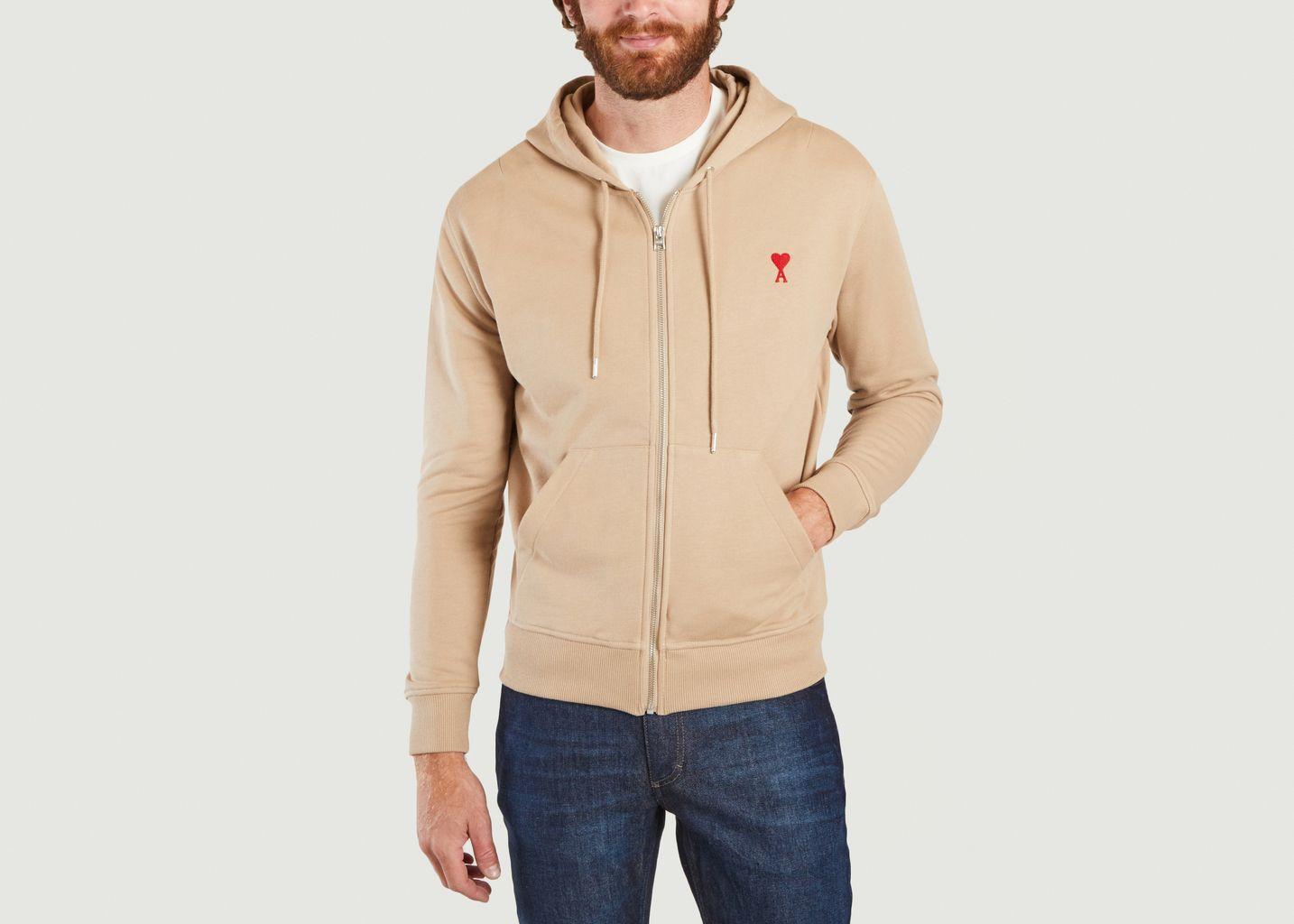 Sweatshirt à capuche zippé Ami de cœur - AMI Paris