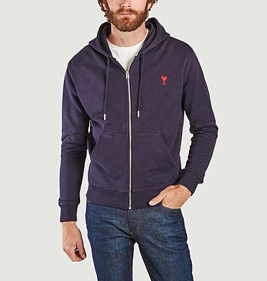 Sweatshirt à capuche zippé Ami de cœur